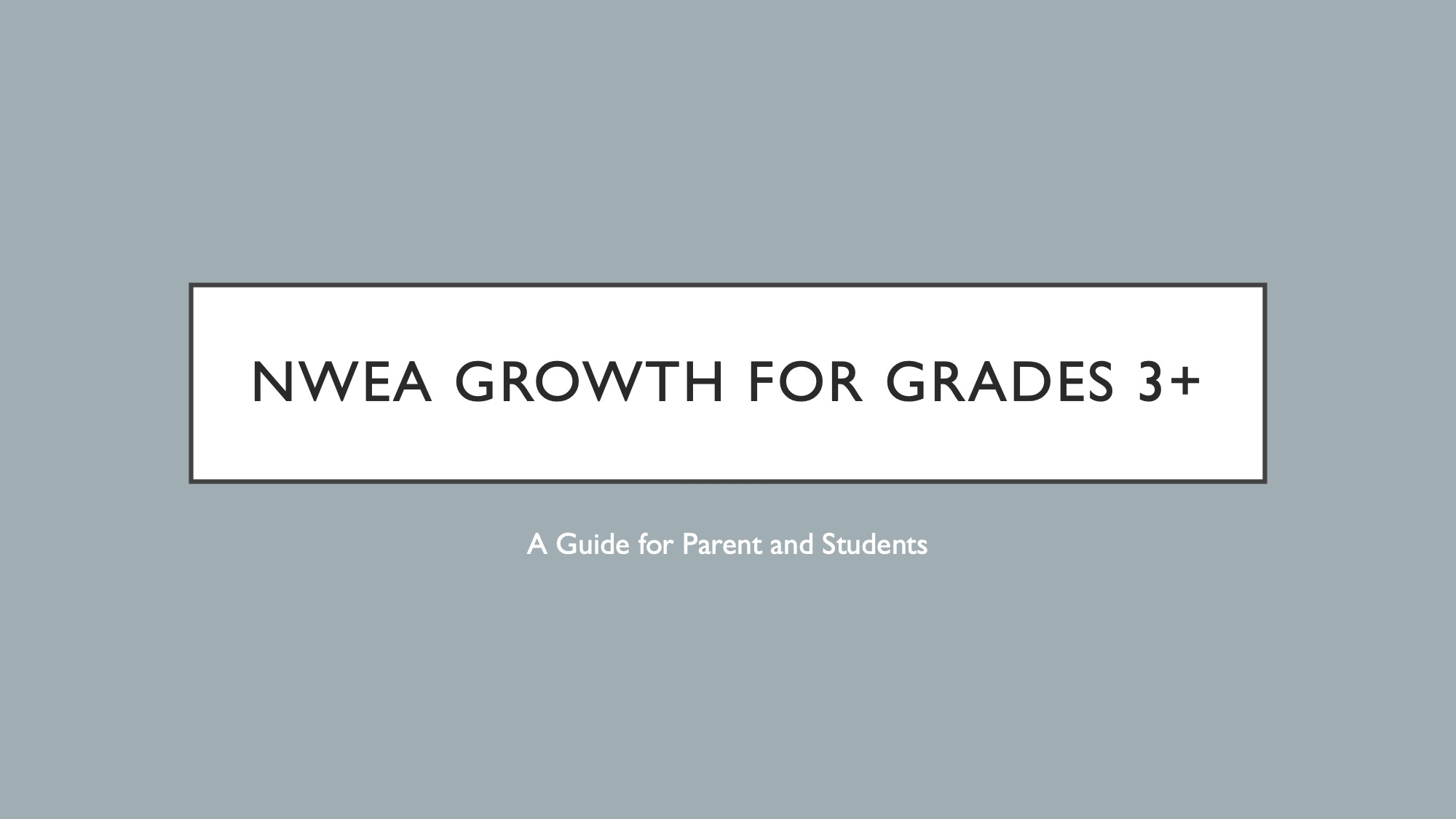 Parent & Student Guide for Grades 3+