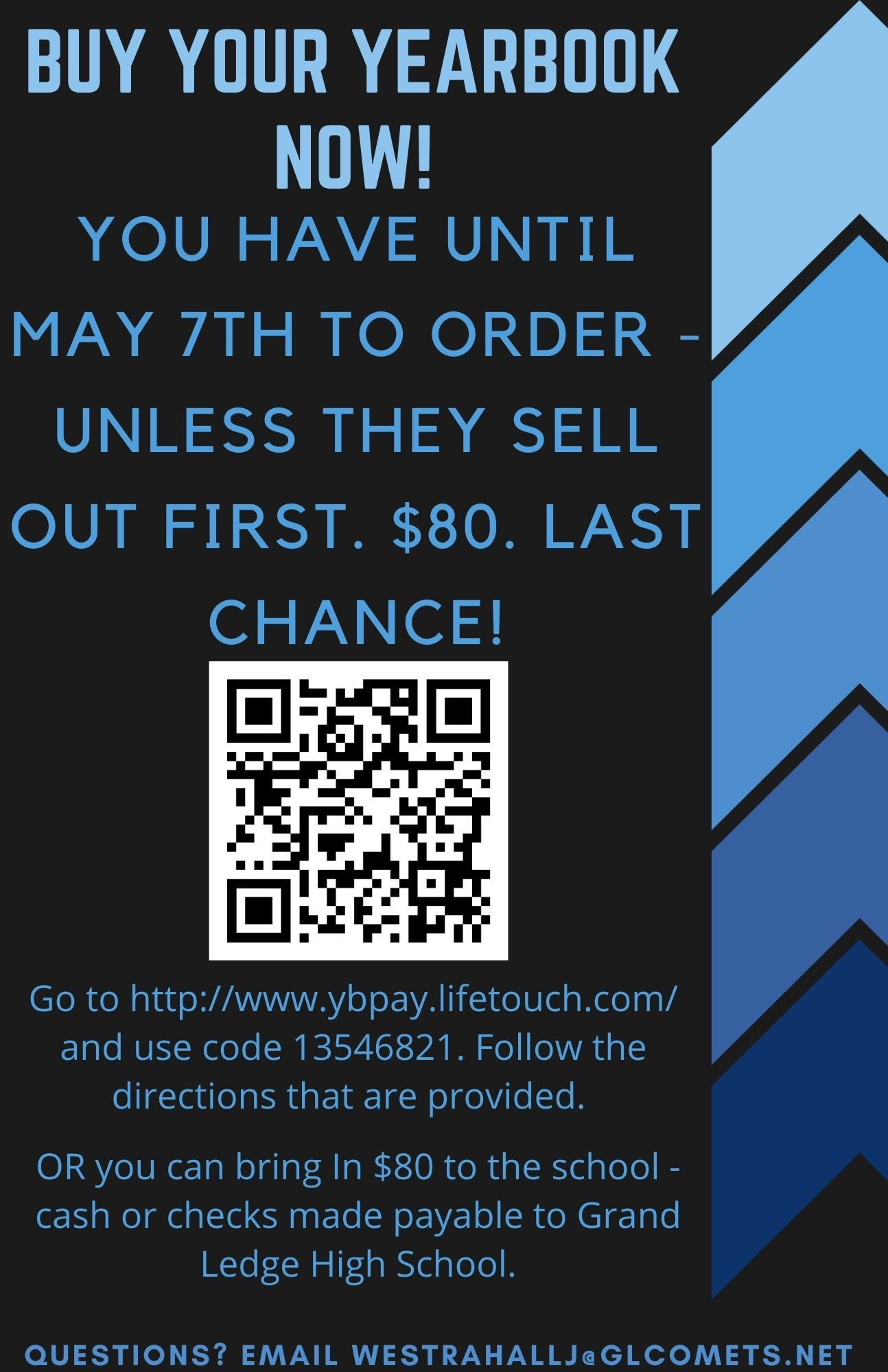 Last Day to order yearbooks is May 7th