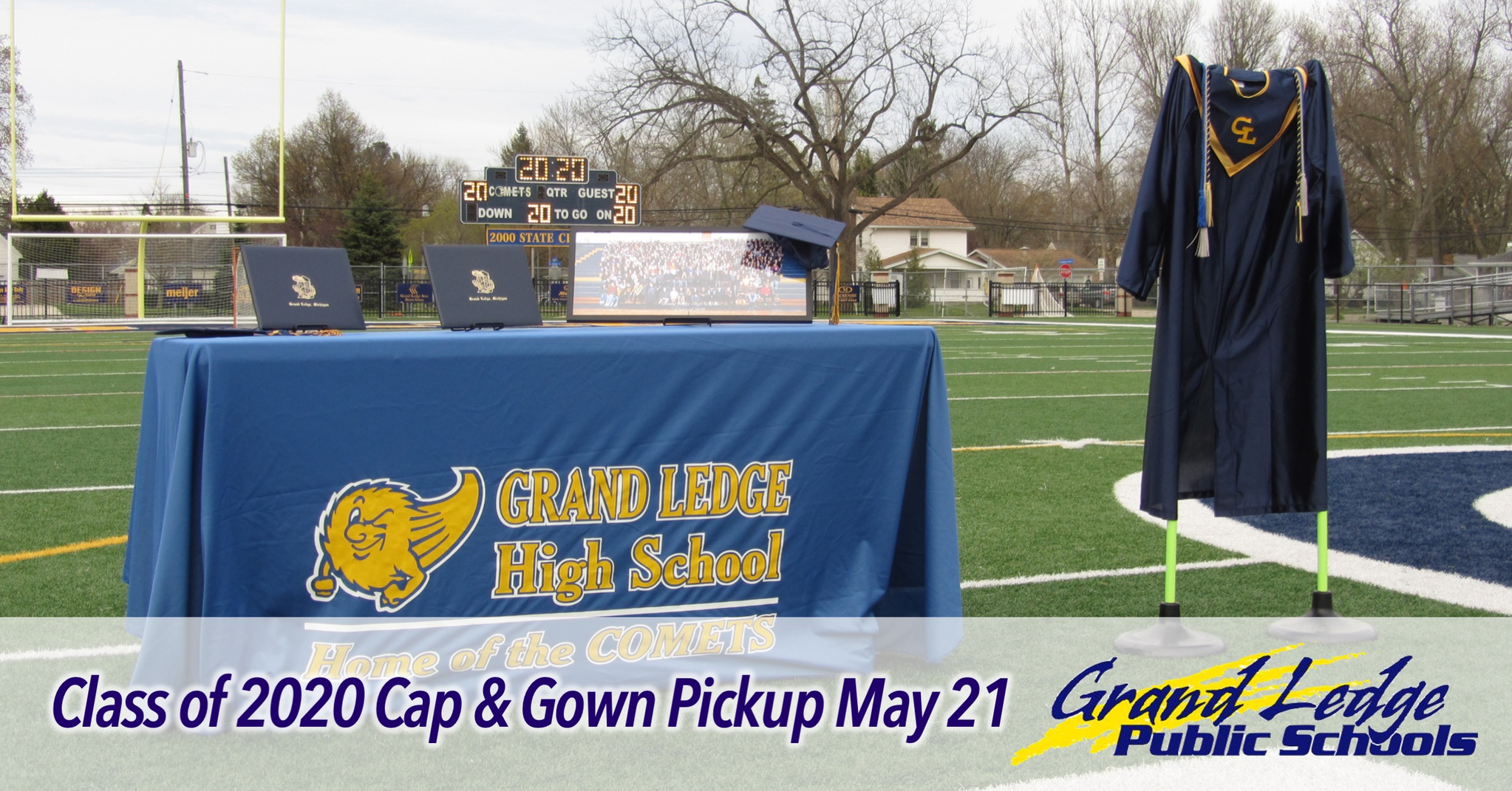 Cap & Gown Pickup May 21
